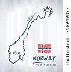 norway national vector drawing...   Shutterstock .eps vector #758949097