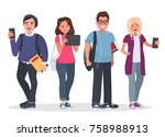 college students concept... | Shutterstock .eps vector #758988913