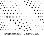 abstract halftone wave dotted... | Shutterstock .eps vector #758989123