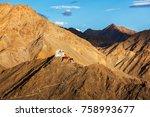namgyal tsemo gompa  tibetan... | Shutterstock . vector #758993677
