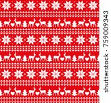 christmas seamless pattern ... | Shutterstock .eps vector #759009343