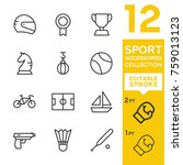 sport accessories collection.... | Shutterstock .eps vector #759013123