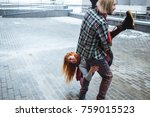 true love emotions of playful... | Shutterstock . vector #759015523