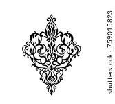 vintage baroque frame scroll... | Shutterstock . vector #759015823