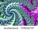 an abstract computer generated... | Shutterstock . vector #759026737