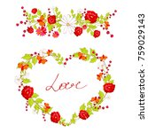 red  roses  heart  flowers ... | Shutterstock .eps vector #759029143