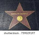 marilyn monroe's star ... | Shutterstock . vector #759029197