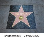 paul newman's star  hollywood... | Shutterstock . vector #759029227