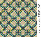 new color seamless pattern with ... | Shutterstock .eps vector #759031363