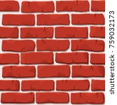 nice vector red brick wall... | Shutterstock .eps vector #759032173