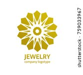 gold jewelry logo design.... | Shutterstock .eps vector #759033967