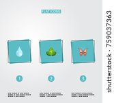 flat icons eco energy  water ... | Shutterstock .eps vector #759037363