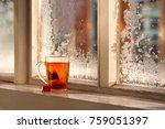 a mug of tea on the background