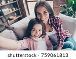 beautiful with toothy smile... | Shutterstock . vector #759061813