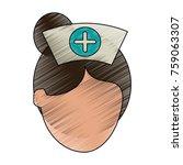 nurse faceless avatar   Shutterstock .eps vector #759063307