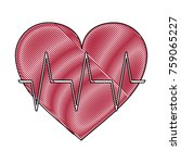 heartbeat medical symbol icon... | Shutterstock .eps vector #759065227