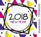 happy new year figures... | Shutterstock .eps vector #759066193