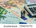 miniature figure  businessmen...   Shutterstock . vector #759074773