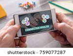 connected health concept on... | Shutterstock . vector #759077287