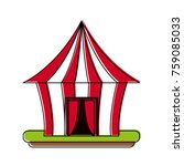 circus carnival tent | Shutterstock .eps vector #759085033