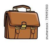 business briefcase symbol pop...   Shutterstock .eps vector #759092503