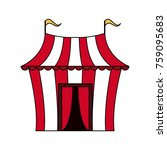 circus carnival tent | Shutterstock .eps vector #759095683