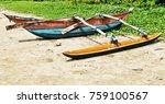 sri lankan traditional fishing... | Shutterstock . vector #759100567