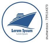 simple cruise ship logo icon... | Shutterstock .eps vector #759114373