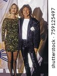 Small photo of Los Angeles, California - exact date unknown - circa 1990 - Susan Dey and David Cassidy from the Partridge Family attending an award ceremony