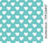 hearts pattern. valentines day... | Shutterstock .eps vector #759126847