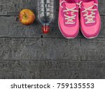 pink running shoes for fitness... | Shutterstock . vector #759135553