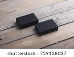 photo of black business cards....   Shutterstock . vector #759138037