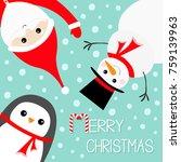 hanging upsidedown snowman... | Shutterstock .eps vector #759139963
