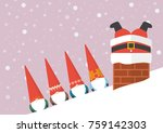 group of little santa looking... | Shutterstock .eps vector #759142303