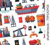 oil petroleum extraction... | Shutterstock .eps vector #759142933