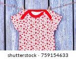 infant girl t shirt hanging on...   Shutterstock . vector #759154633