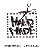 hand made label vector tag...