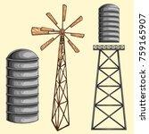 vector illustration of farm...   Shutterstock .eps vector #759165907