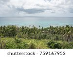 cloudy skies over the turquoise ... | Shutterstock . vector #759167953