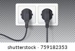 electric plugs and socket.... | Shutterstock .eps vector #759182353