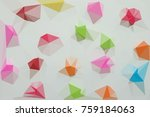 colorful polygon abstract...   Shutterstock . vector #759184063