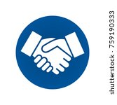 handshake sign. handshake icon... | Shutterstock .eps vector #759190333