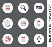 flat icons id  market  social... | Shutterstock .eps vector #759196687