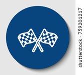 crossed checkered flags logo... | Shutterstock .eps vector #759201217