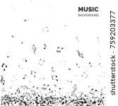 vector abstract music... | Shutterstock .eps vector #759203377