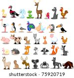 extra large set of animals | Shutterstock .eps vector #75920719