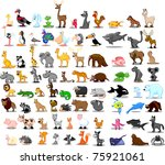 extra large set of animals... | Shutterstock .eps vector #75921061