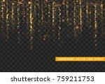 glowing lights golden glitter.... | Shutterstock .eps vector #759211753