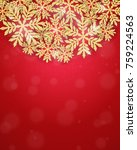 merry christmas and happy new... | Shutterstock .eps vector #759224563