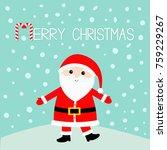 santa claus wearing red hat ... | Shutterstock .eps vector #759229267